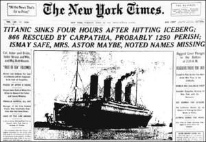 NYT - titanic