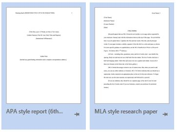 Finding MLA and APA Templates in MS Word | From the Research Desk
