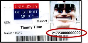 Tommy Titan ID with circle
