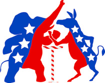 Democratic Republican Parties Arm Wrestling Clipart