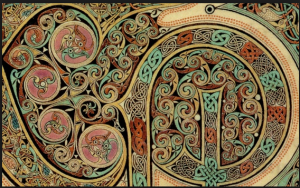Detail from the Lindisfarne Gospels
